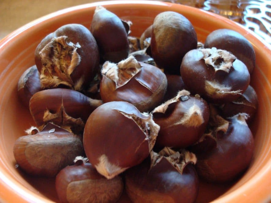 Орехи съедобного каштана  Орехи съедобного каштана kak hranit kashtany varenye